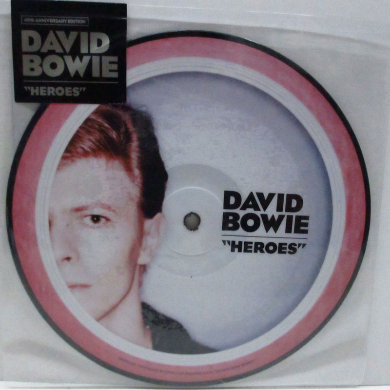 "DAVID BOWIE - Heroes (EU '17 Ltd.Picture 7""+Stickered PVC)"