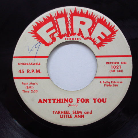 TARHEEL SLIM & LITTLE ANN - Anything For You (Orig)