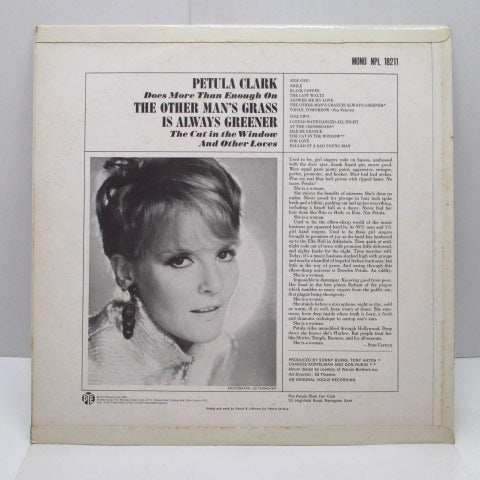 PETULA CLARK-The Other Man's Grass Is Always Greener (UK Orig.Mono LP / CFS)