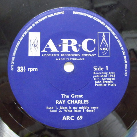RAY CHARLES - Blues Is My Middle Name +3 (UK EP)