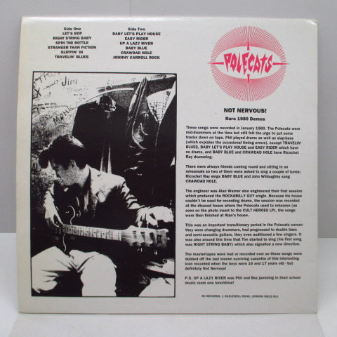 POLECATS - Not Nervous:Rare 1980 Demos (UK Orig.LP)