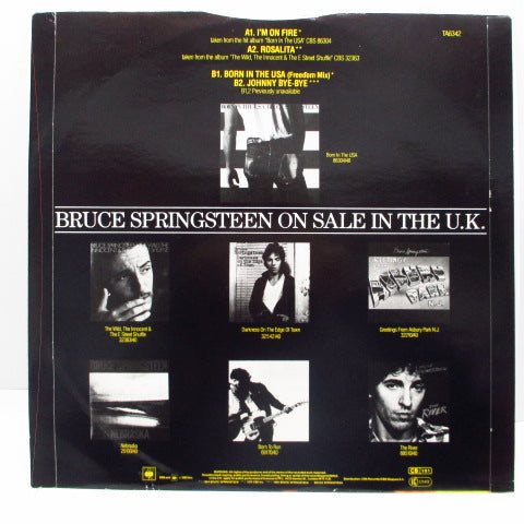 "BRUCE SPRINGSTEEN (ブルース・スプリングスティーン)  - Born In The U.S.A. feat. I'm On Fire (UK Orig.12"")"