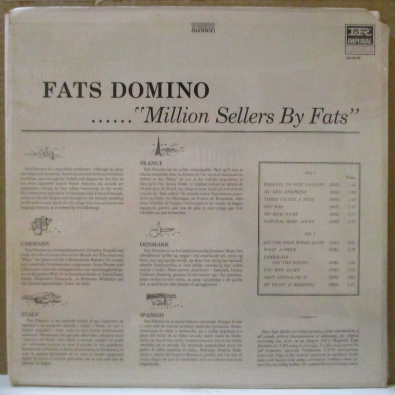 FATS DOMINO (ファッツ・ドミノ)  - Million Sellers By Fats (US '69 Reissue Stereo LP)