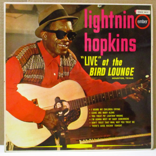 LIGHTNIN' HOPKINS (ライトニン・ホプキンス)  - Live At The Bird Lounge (UK 60's Reissue LP/CFS)