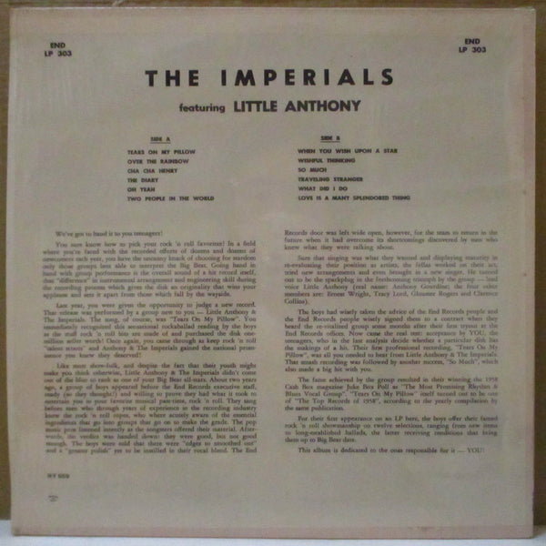 LITTLE ANTHONY & THE IMPERIALS (リトル・アンソニー & ザ・インペリアルズ)  - We Are The Imperials (US 70's End Reissue Flexi Vinyl Stereo LP)