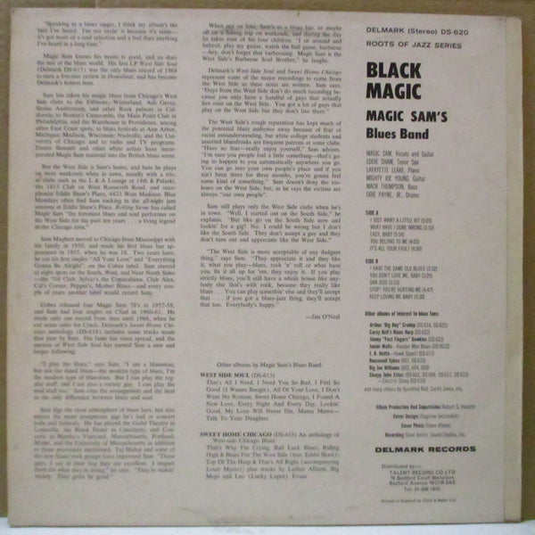 MAGIC SAM BLUES BAND (マジック・サム・ブルース・バンド)  - Black Magic (US 70's Export Reissue Stereo LP/UK Orig.CS)