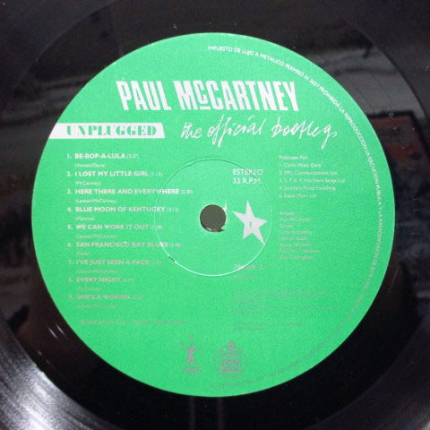 PAUL McCARTNEY - Unplugged (The Official Bootleg) (EURO/SPAIN Orig.)