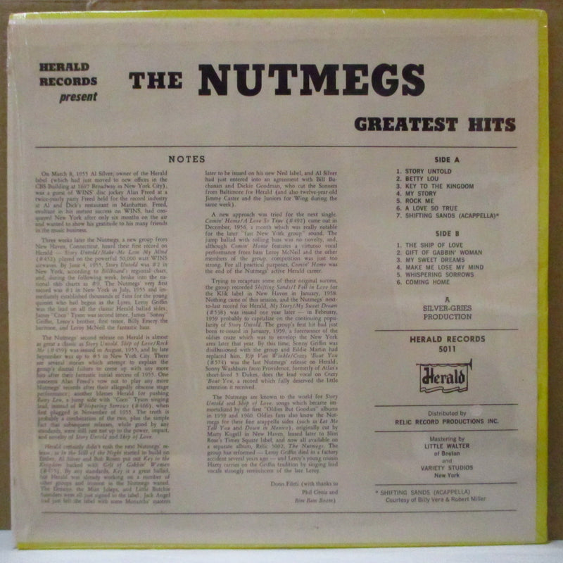 NUTMEGS (ナットメグス)  - Greatest Hits (US 70's Orig. LP)
