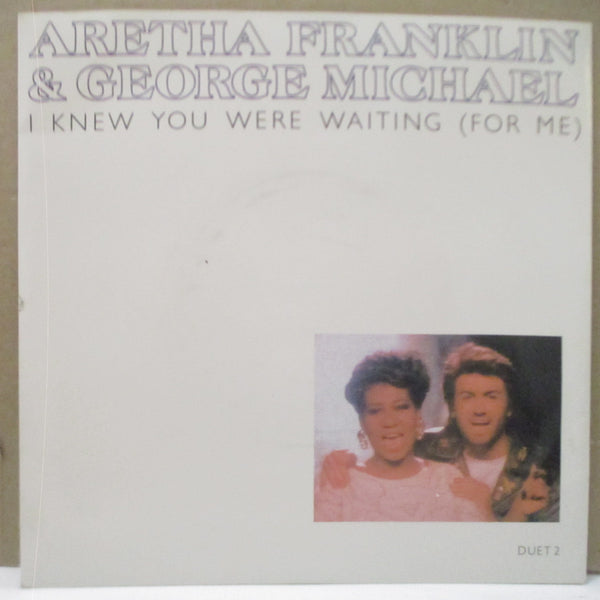 "ARETHA FRANKLIN & GEORGE MICHAEL - I Knew You Were Waiting (for Me) (UK Orig.7""+PS)"