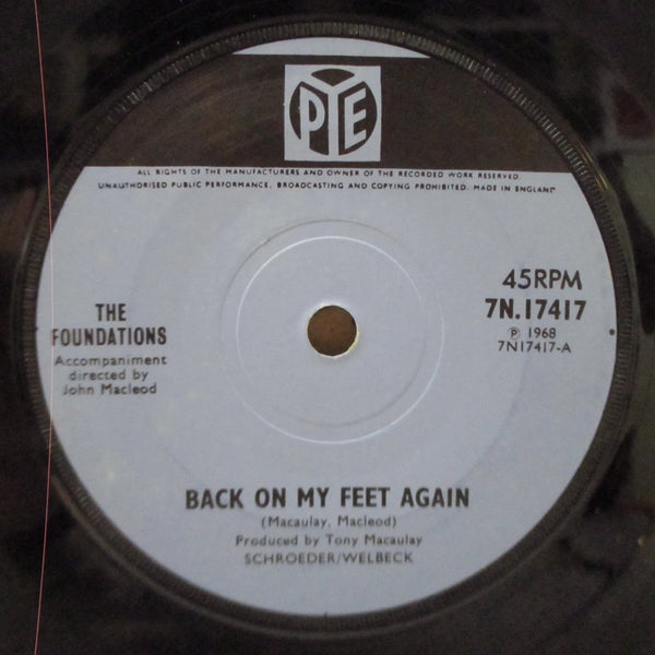 FOUNDATIONS - Back On My Feet Again (UK Orig.Black Bar Lbl.Flat Center)