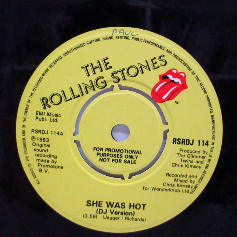 "ROLLING STONES (ローリング・ストーンズ)  - She Was Hot (UK Promo 7""+PS)"