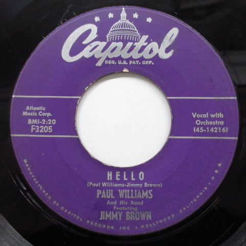PAUL WILLIAMS & HIS BAND feat.JIMMY BROWN - Rock It Davy Crockett (US Orig)