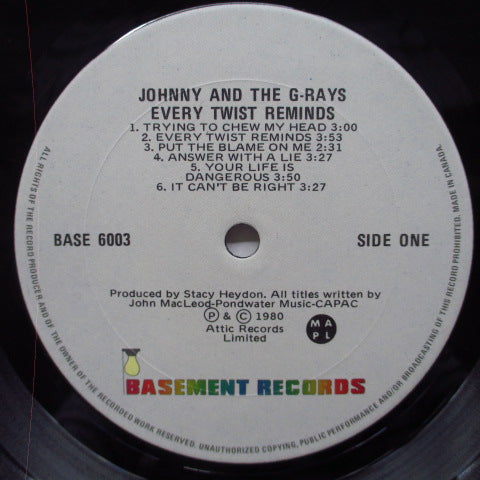 JOHNNY AND THE G-RAYS - Every Twist Reminds (Canada Orig.LP)