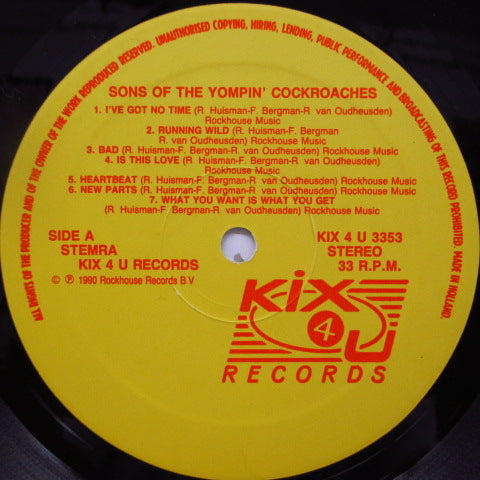 SONS OF THE YOMPIN' COCKROACHES - Sons Of The YC (Dutch Orig.LP)