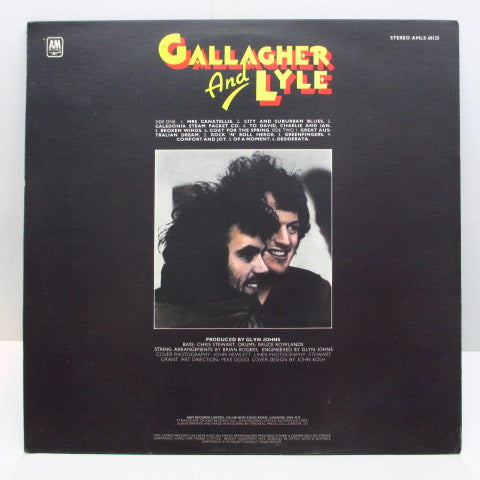 GALLAGHER & LYLE - Gallagher & Lyle (1st) (UK A&M Orig.)