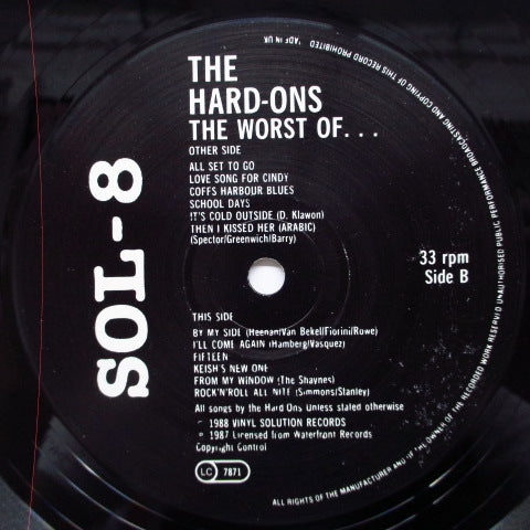 HARD-ONS - The Worst Of ...(UK Orig.LP)