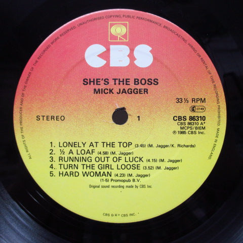 MICK JAGGER - She's The Boss (UK Orig.LP)