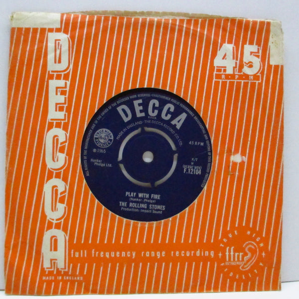 "ROLLING STONES (ローリング・ストーンズ)  - The Last Time (UK Orig.7""+CS)"