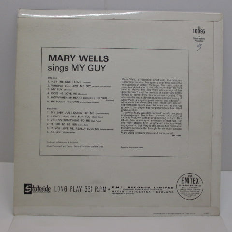MARY WELLS - Mary Wells Sings My Guy (UK:Orig.MONO/CS!)