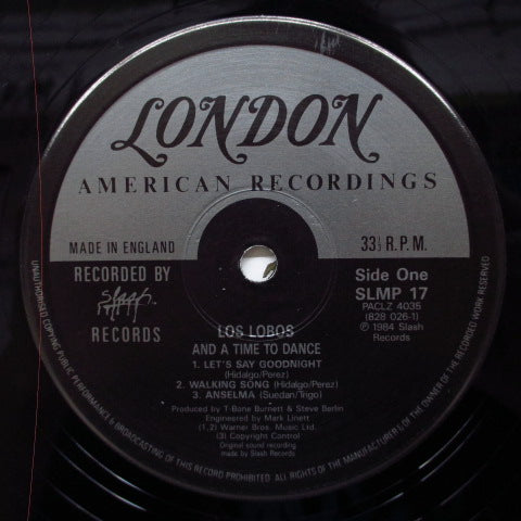 LOS LOBOS - And A Time To Dance (UK Reissue LP)