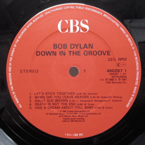 BOB DYLAN - Down In The Groove (UK:Orig.)