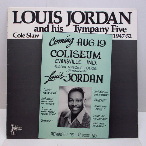 LOUIS JORDAN - Cole Slaw 1947-52 (SWEDEN Orig.LP/Green Sleeve)