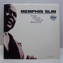 MEMPHIS SLIM - The Real Folk Blues (US 80's Re LP/Barcode CVR)