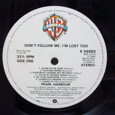 PEARL HARBOUR - Don't Follow Me, I'm Lost Too (UK Orig.LP)