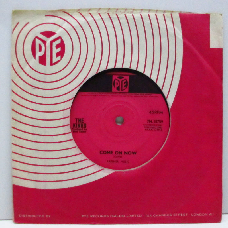 "KINKS (キンクス)  - Tired Of Waiting For You (UK Orig.Flat Center 7""+CS)"