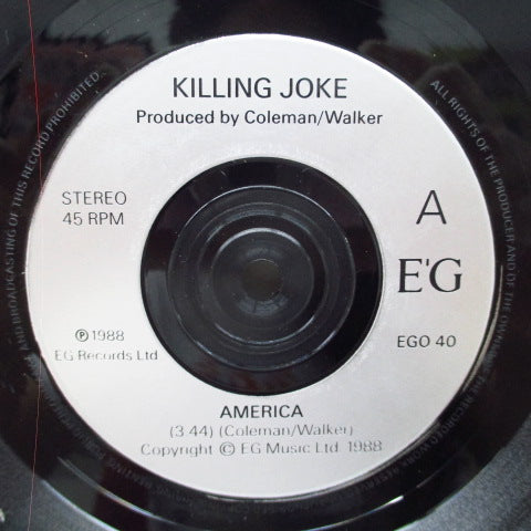 "KILLING JOKE - America / Jihad (UK Orig.7"")"