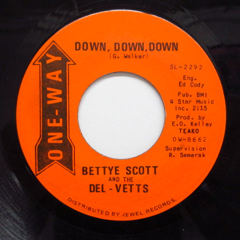 BETTYE SCOTT & THE DEL-VETTS-Good Feeling / Down, Down, Down