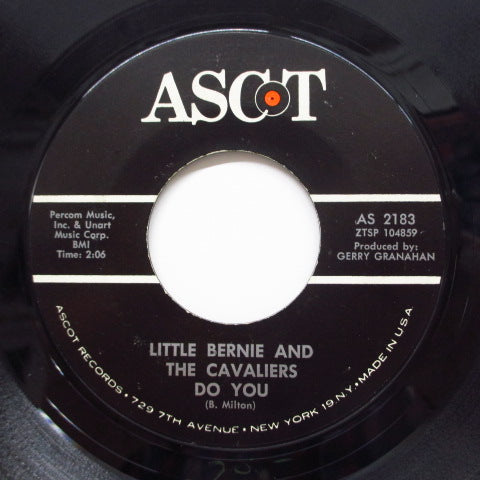 LITTLE BERNIE & THE CAVALIERS - Do You / Poor Town (Orig)