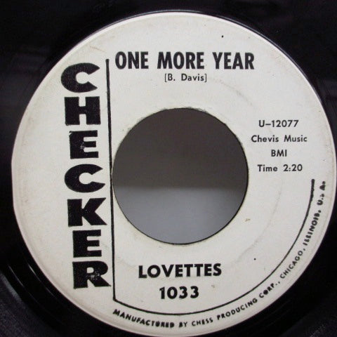LOVETTES - One More Year / Crush