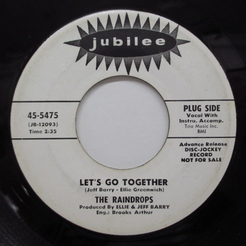 RAINDROPS - Let's Go Together (Promo Lined 45)