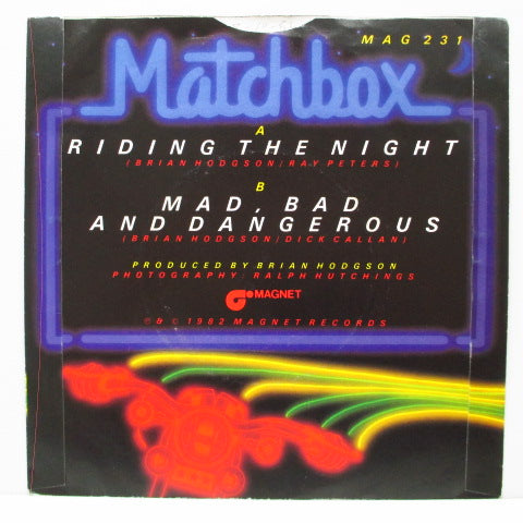 "MATCHBOX - Riding The Night (UK Orig.7""+PS)"