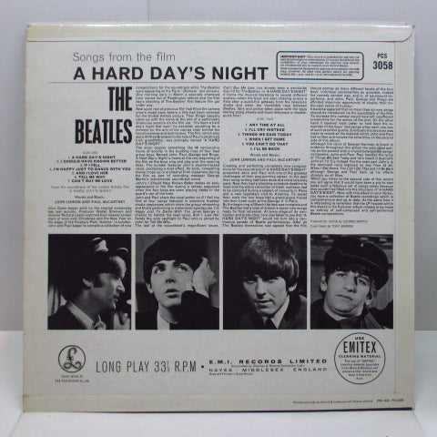 BEATLES - A Hard Day's Night (UK 70's 2x EMI Stereo/3面CFS)