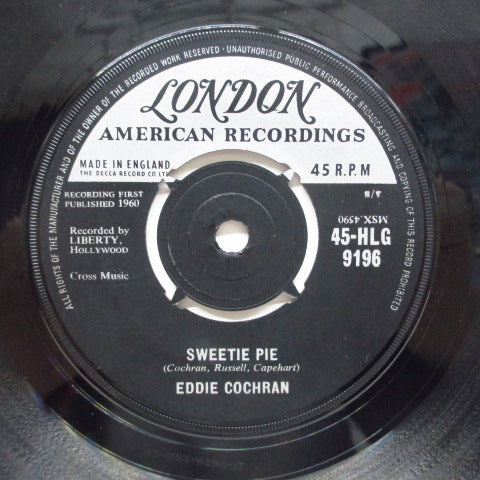 "EDDIE COCHRAN - Sweetie Pie / Lonely (UK Orig.7""+CS)"