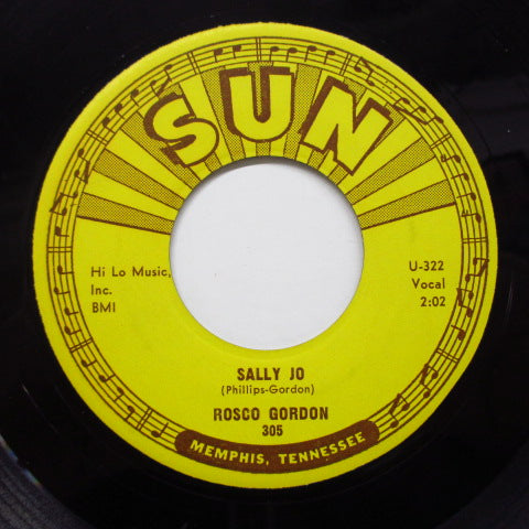 ROSCO GORDON - Sally Jo / Torro (Orig)