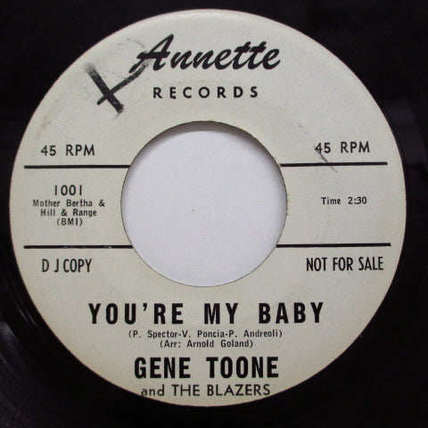 GENE TOONE & THE BLAZERS - You're My Baby / Jose (Promo)