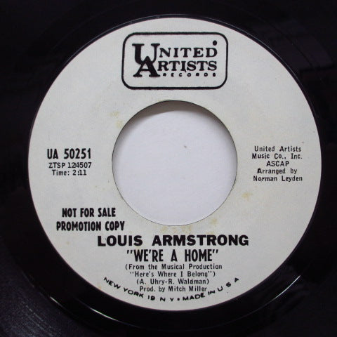 LOUIS ARMSTRONG - No Time Is A Good Good-Bye Time (Promo)