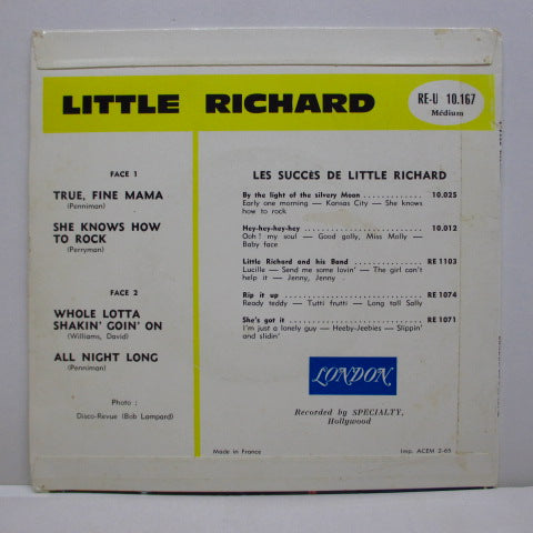 "LITTLE RICHARD - True Fine Mama +3 (France Orig.7""EP/CFS)"