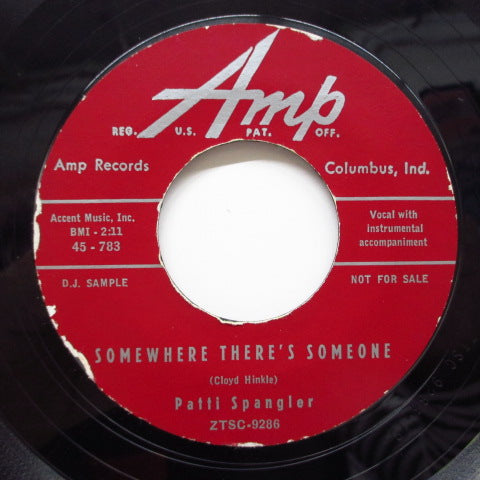 PATTI SPANGLER - Somewhere There's Someone (Promo)