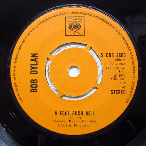 BOB DYLAN - A Fool Such As I (UK Orig.Round Center)