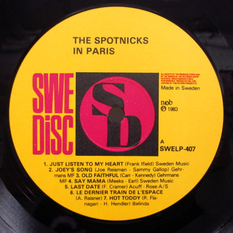 SPOTNICKS - The Spotnicks In Paris Dansons Avec Les Spotnicks (SWEDEN Re LP)