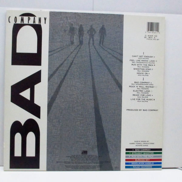BAD COMPANY (バッド・カンパニー)  - 10 From 6 (German Orig.LP)