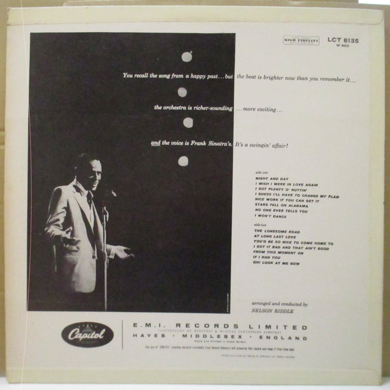 FRANK SINATRA  (フランク・シナトラ)  - A Swingin' Affeir (UK '59 2nd Press Mono LP/CFS)