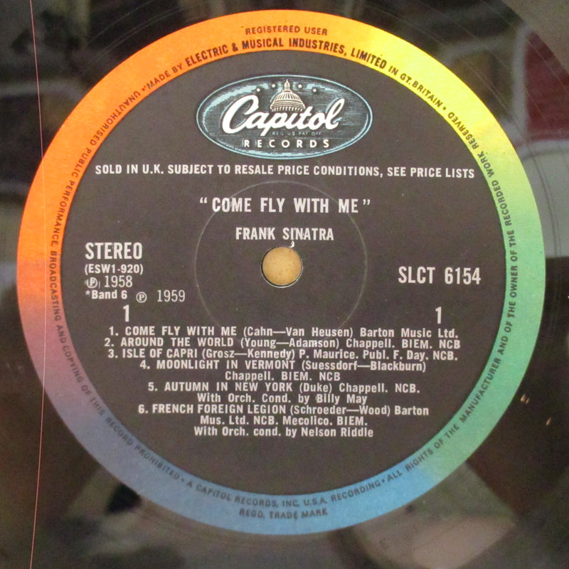 FRANK SINATRA  (フランク・シナトラ)  - Come Fly With Me (UK '66 3rd Press Stereo LP/CFS)