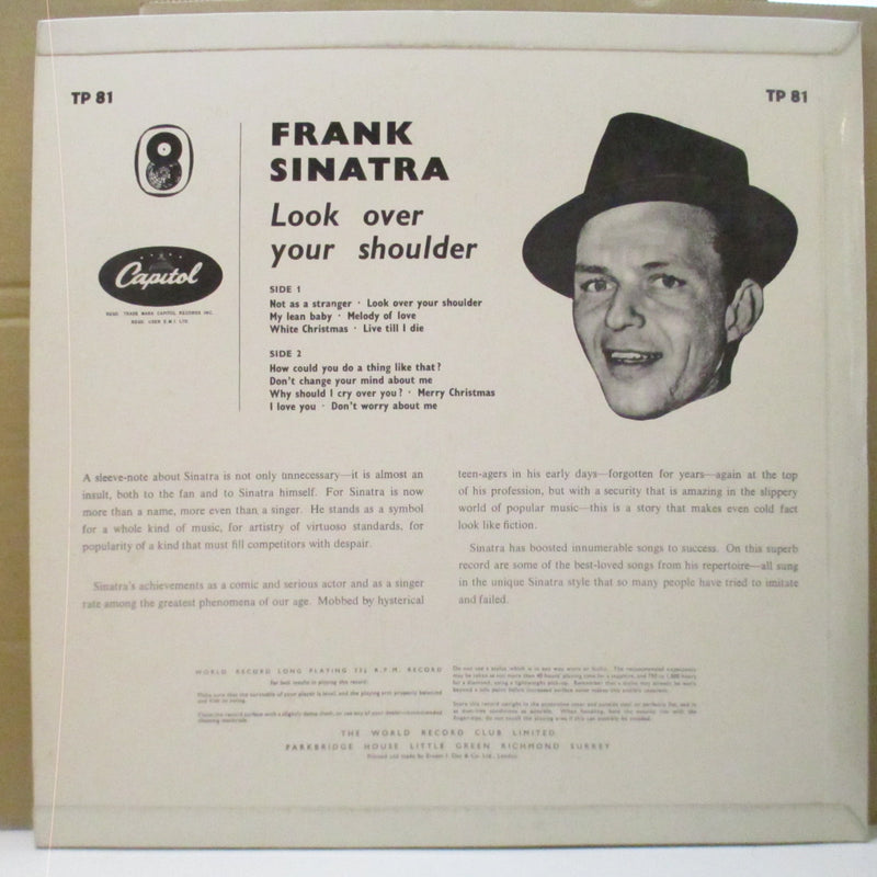 FRANK SINATRA  (フランク・シナトラ)  - Look Over Your Shoulder (UK Orig.Mono LP/CFS)