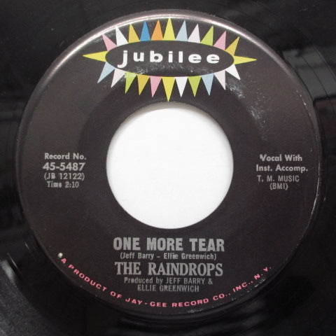 "RAINDROPS - Another Boy LIke MIne (US Orig.No LIned Label 7"")"