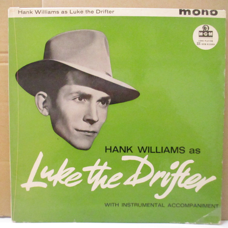 "HANK WILLIAMS (ハンク・ウィリアムス)  - As Luke The Drifter (UK Orig.Mono 10"" LP/CFS)"